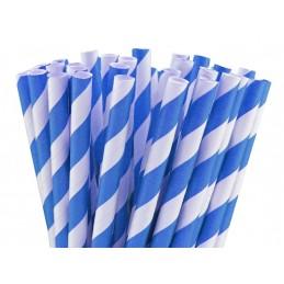 Paille en papier bleu...