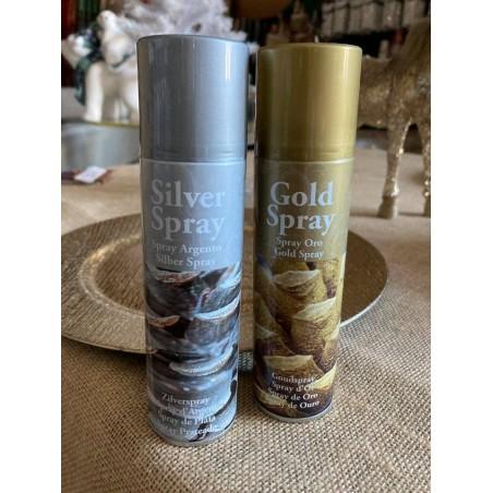 Bombe métallisée or et argent 150ml