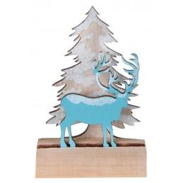 Décoration table cerf bleu...