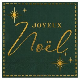 Serviette Joyeux Noël vert...