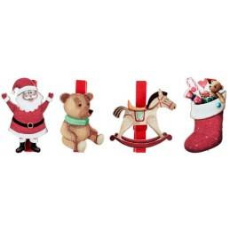 Père Noël sur pince par 4