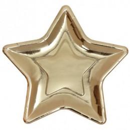 Assiette étoile métal or...