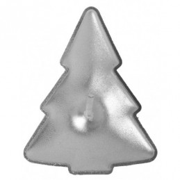 Bougie sapin Argent 2,3x4cm