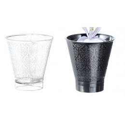 Verrine design baroque, disponible en colris noire ou cristal